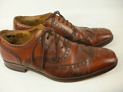 A Pair Of Mens  Brown Leather Vintage Broges Shoes Size Uk 8.5
