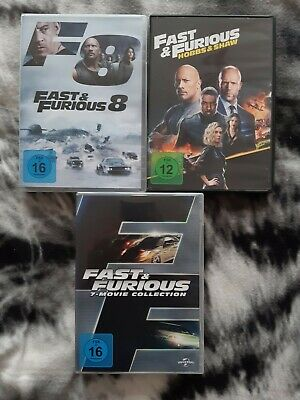 Fast And & Furious 1-9 + Hobbs & Shaw Dvd Collection 1 2 3 4 5 6 7 8 9