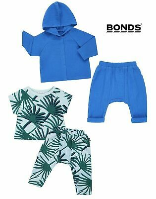 BNWT Bonds Cheesecloth Hoodie and Pants Tracksuit Set Sizes 000-2 RRP: $57.90