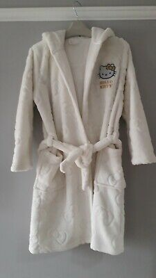 girls Marks and Spencer hello kitty dressing gown age 7 to 8