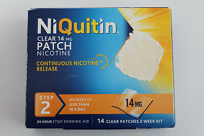 NiQuitin Clear 14mg Patch Nicotine - STEP 2 - 14 Clear Patches - 2 WEEK KIT