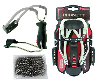 Barnett Black Widow Powerful Hunting Catapult / Slingshot + 250 X 6mm BB Ammo