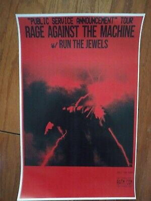 Rage Against The Machine 11x17 2020 tour promo concert poster shirt tickets