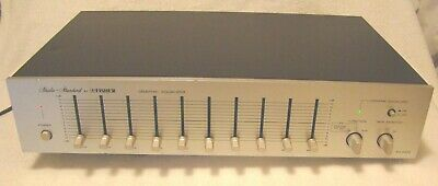 Vintage Silver Face Fisher Graphic Equalizer EQ-2322 Working