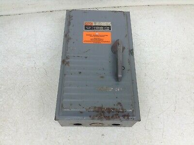FPE 1636SN 60 Amp 600 VAC Fusible Disconnect Switch (TSC)
