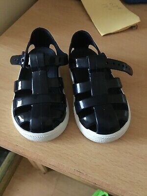 Baby Boys Blue Igor Jelly Sandals Size Infant 4 (20) Good Condition