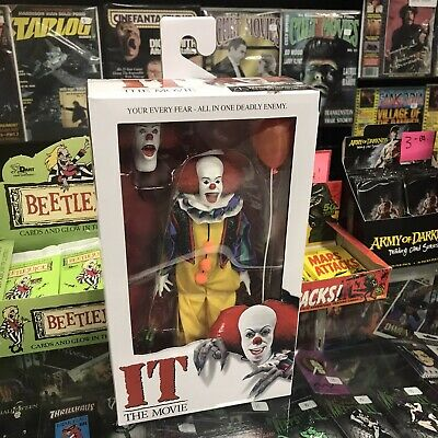 "NECA IT Pennywise (1990) Clothed 8"" Action Figure horror Stephen King NEW!"