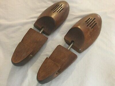 Vintage Shoe Stretcher Tree size Large- Rochester Shoe Tree Co Wooden Vented