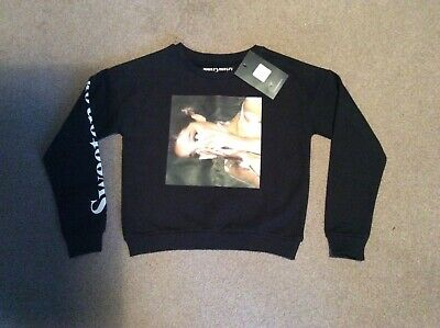 PRIMARK Ariana Grande Girls Jumper in Black - aged 9-10yrs