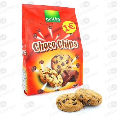 Galletas Gullon Chocochips Negro Bolsa Bolsa 200Gr Galletas Con Gotas Chocolate