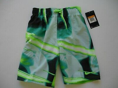 NWT Boy S / 8 - Nike Swimsuit - Lime Green Black and Green