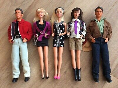 Beverly Hills 90210 Mattel dolls, complete collection of five characters