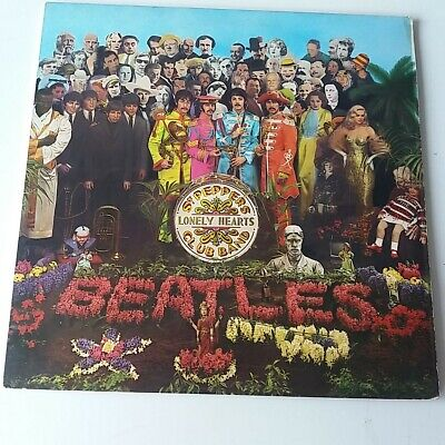 Beatles - Sgt Pepper's - Vinyl LP UK Very Rare Mispress One Box EX+/EX