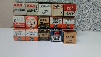 Lot OF15 Vintage Tubes; AUDIO - GUITAR - AMPLIFIER - HAM - RADIO  TV