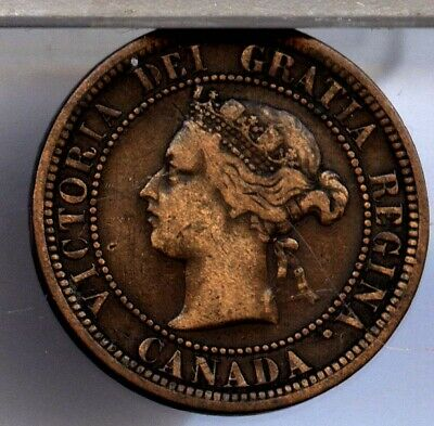 1882 H  CANADA LARGE CENT as shown FREE S/H