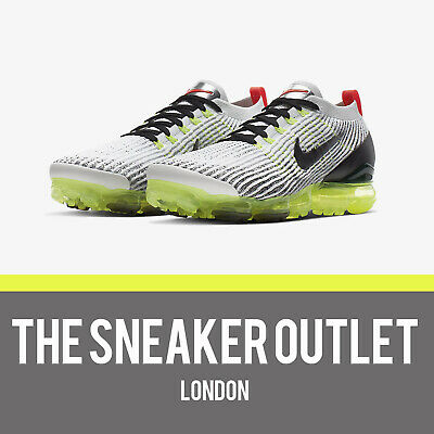 New Mens Nike Air Vapormax Flyknit 3 UK Size 8 Trainers White Black AJ6900100