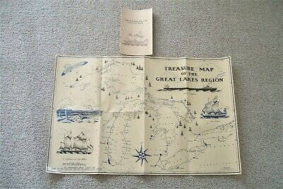 """Great Lakes Sunken Ships """"Guide to Treasure Map of the Great Lakes Region"""""""