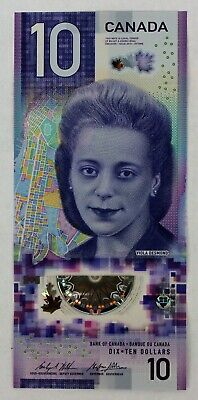 3 x 10 Dollars $10 2018 Canada; Viola Desmond; UNC; Bank Note of the Year Award