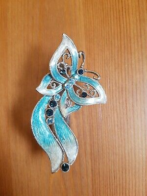 Accessorize Blue Crystal Sparkly Butterfly Hair Clip