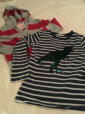 Bundle of 2 Boys Top H&M Sequin Flip Top & OshKosh 5-6 Years