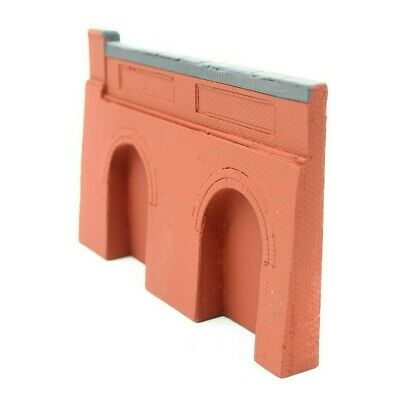 5 X Detailed Model Railway Retaining Wall With Aches For HO / OO New 02