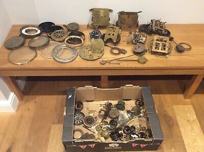 Job Lot Of Vintage Antique Clock, Parts And Spares Vintage Clocks Mechanisms