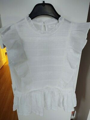 Girls Next Age 11 11-12 Years White Top Summer Short Sleeve Bnwt