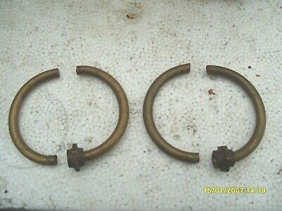 Clock Parts Spares 2  Screw  Side  Rings  For Wooden Mantel Clock  64Mm Wide