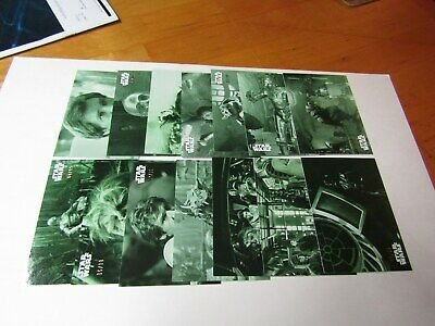 STAR WARS B&W  RETURN of the JEDI  GREEN HUE PARALLEL LOT 28 CARDS, No Dups #/99