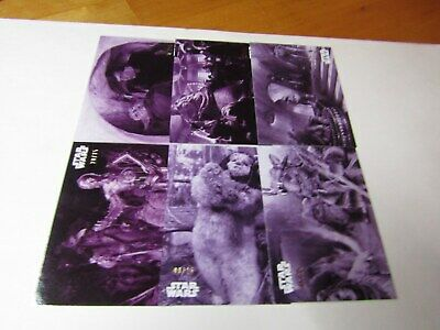 STAR WARS B&W RETURN of the JEDI  PURPLE HUE PARALLEL LOT 6 CARDS. No Dups #/25