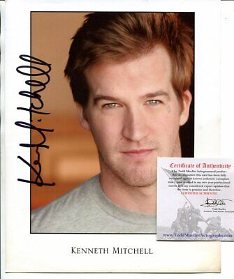 JERICHO ghost whisperer KENNETH MICTHELL + COA signed AUTOGRAPH 639