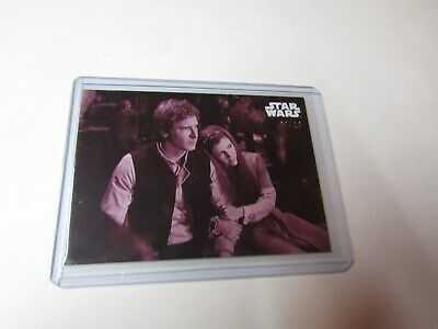 FLASHES..  STAR WARS B&W RETURN of the JEDI RED HUE SHIFT CARD #80 s/n 02/10