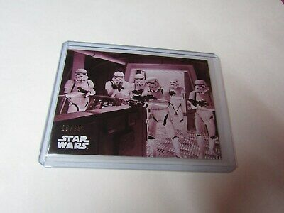 IMPERIAL..  STAR WARS B&W RETURN of the JEDI RED HUE SHIFT CARD #102 s/n 10/10