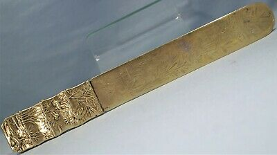 Chinese Export Vermeil Silver Repousse Bamboo Page Turner Luen Wo Early 20th C.