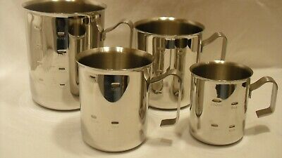 Tramontina Milk Frothing Pitcher Set - SS 18/10 Liquid Measure Cups Professional