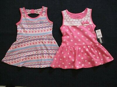 Limited Too Baby Girls 2 Pack Pink Knit Sleeveless Dresses Size 12 Months Set
