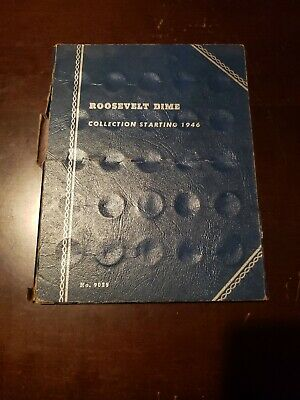 1958 Whitman Folder No. 9029 Roosevelt Dimes 1946-1958 with 24 dimes