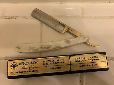 Dovo Mother of Pearl handle Straight Razor Made in Germany