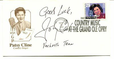JOHNNNY CASH  first day cover PATSY CLINE signed AUTOGRAPH 4039