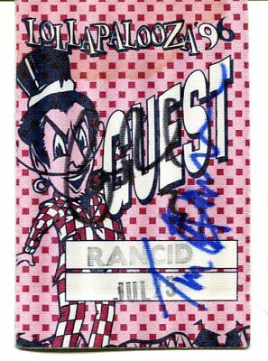 2 band members  RANCID signed AUTOGRAPH 4043
