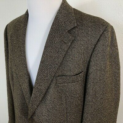 Brooks Brothers Brown Tweed Wool 2-Button Mens Jacket Sport Coat Blazer Sz 43R
