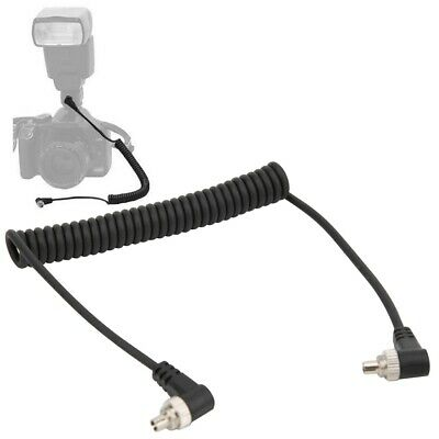 Male to Male Flash PC Sync Cable Cord with Screw Lock For Trigger Flash Camera