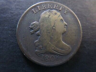 1808 Draped Bust Half Cent - Nice Type Coin