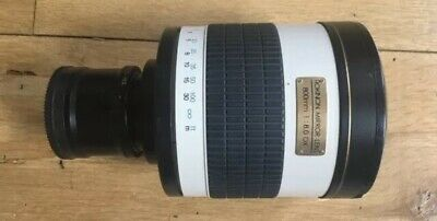 Rokinon 800mm Mirror Lens 1:8.0 DX With E Mount Adaptor, Can Work With Any Mount