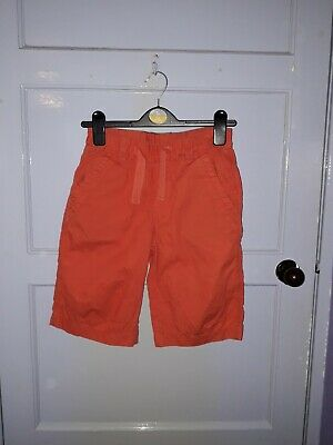 Boys Next Shorts Elasticated Waist Orange Colour Age 9 Years Height 134Cm