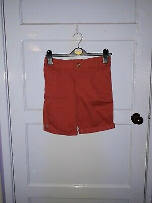 Boys F&F Shorts Adjustable Elasticated Waist Orange Brown Colour Age 9/10 Years