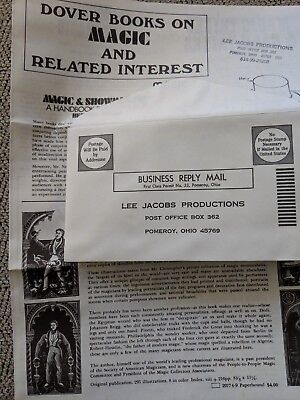Lee Jacobs Productions 10 pcs. Mailer/Flyers with Postmarked Envelope Dated 1973