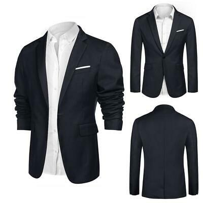 Men Fashion Casual Turn Down Collar Long Sleeve Solid Blazer DKVP