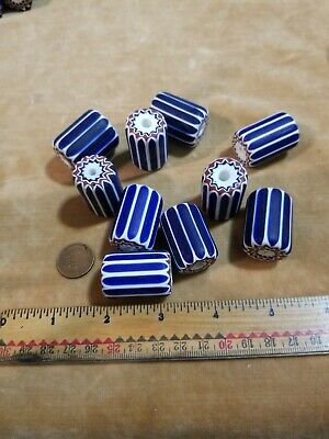 African Trade Beads Rare Antique 6 Layer Chevron Murano Venetian Glass