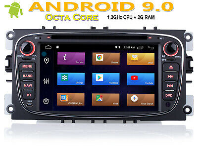 Für FORD Mondeo S-Max Focus 7 zoll Navigation Autoradio Android 9.0 GPS DVD USB